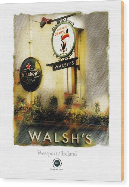 Walsh's Wood Print