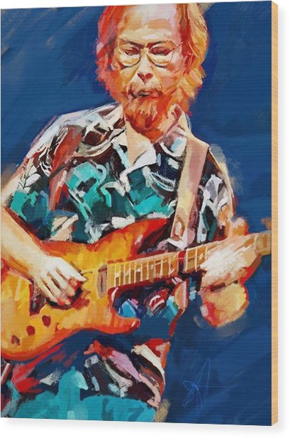 Uncle Walter Wood Print by Scott Waters