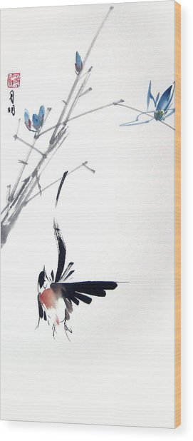 Waltzing At Dawn Wood Print by Ming Yeung