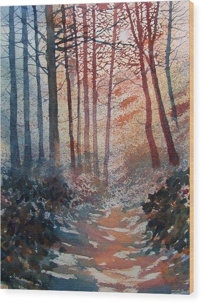 Wander In The Woods Wood Print