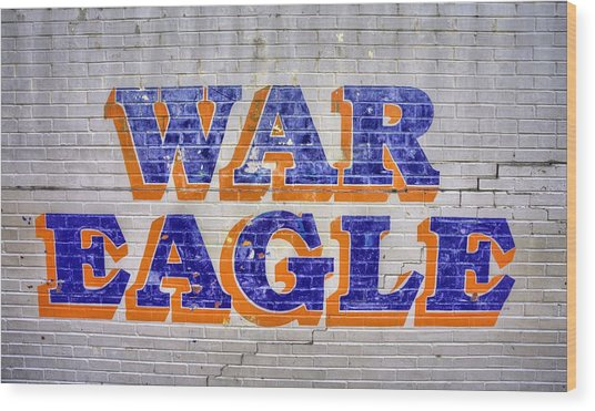 War Eagle Wood Print