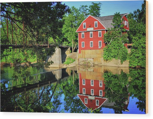 War Eagle Mill And Bridge - Arkansas Wood Print