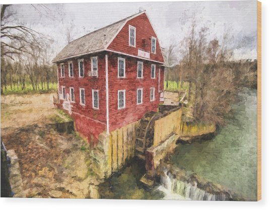 War Eagle Mill Wood Print