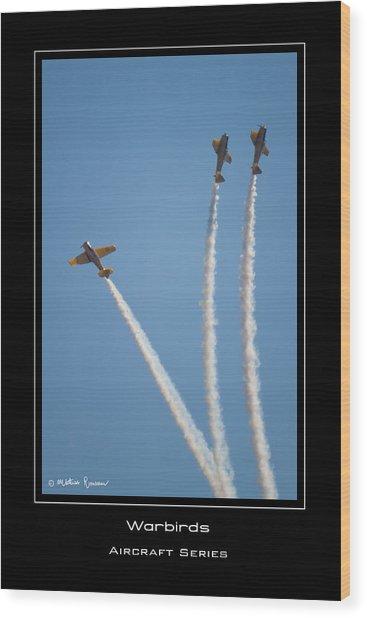 Warbirds Wood Print by Mathias Rousseau