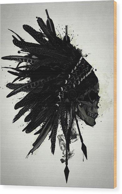 Warbonnet Skull Wood Print
