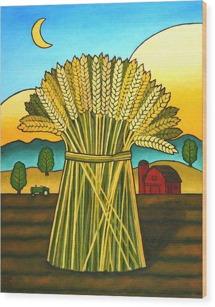 Wards Wheat Wood Print