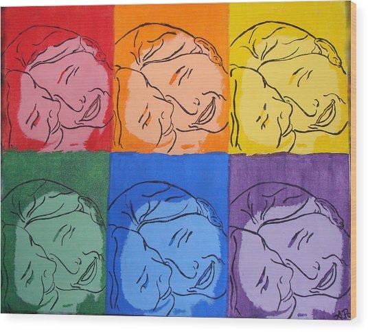 Warhol Inspired Wood Print by Ashley Porter