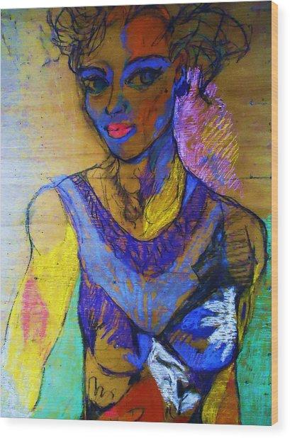 Warhol Simone Wood Print