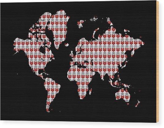 Warhol's World Wood Print