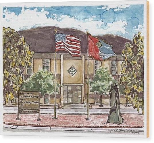 Warhorse Bde Headquarters Building Wood Print