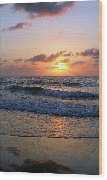Warm Atlantic Sunrise Wood Print