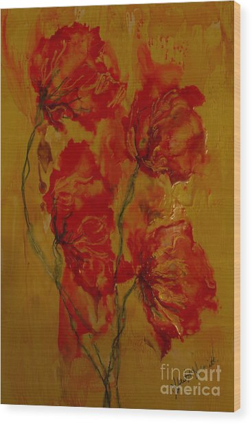 Warm Color Healing Wood Print by Heather Hennick