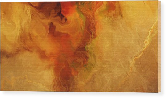 Wood Print featuring the painting Warm Embrace - Abstract Art by Jaison Cianelli