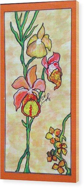 Warm Flower Study Wood Print by Tammera Malicki-Wong