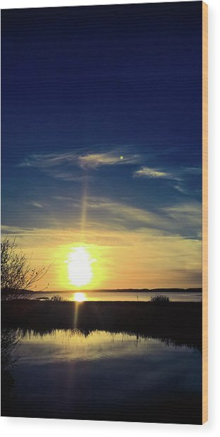 Wood Print featuring the photograph Warm Glow by Pacific Northwest Imagery