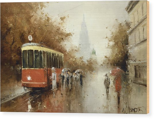 Warm Moscow Autumn Of 1953 Wood Print
