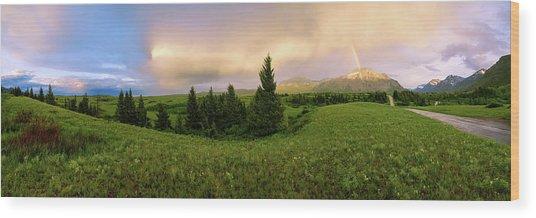Warm The Soul Panorama Wood Print
