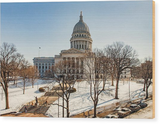 Warm Winter Capitol Wood Print