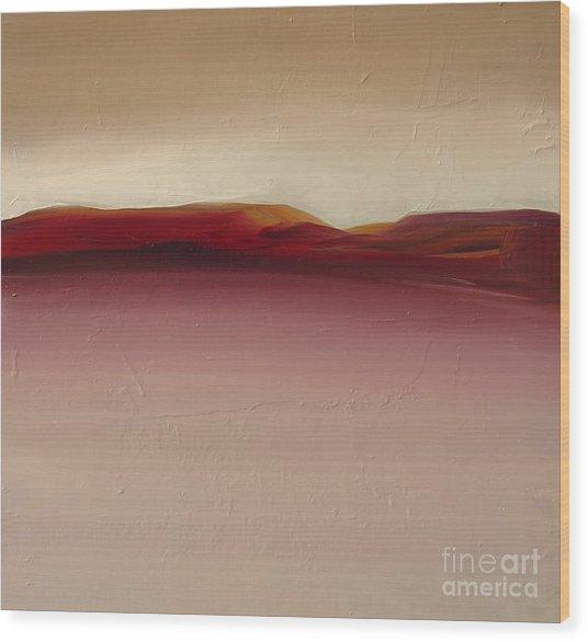 Warm Mountains Wood Print
