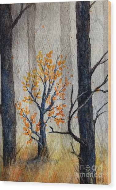 Warmth In Winter Wood Print