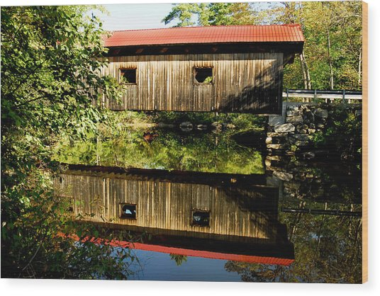 Warner Covered Bridge Wood Print