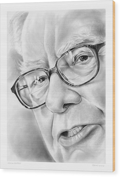 Warren Buffett Wood Print