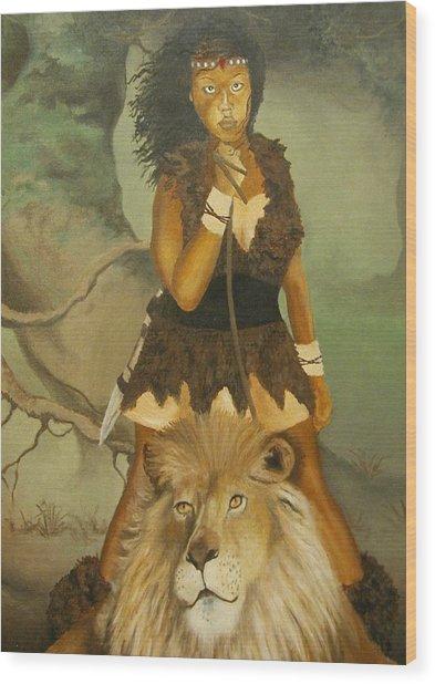 Warrior Princess Wood Print by Angelo Thomas