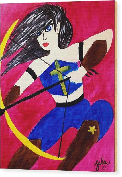 Warrior Queen  Wood Print