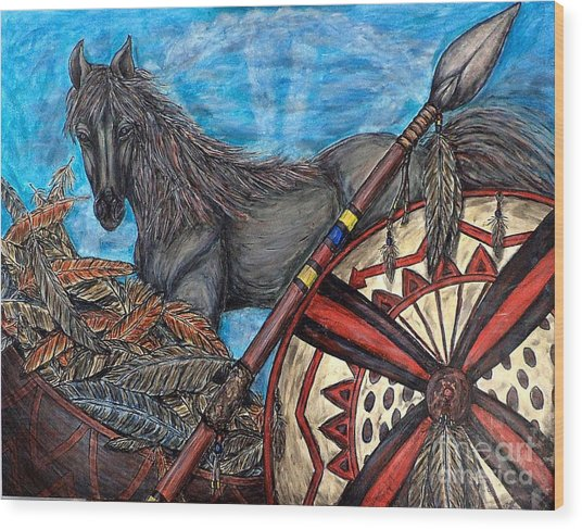 Warrior Spirit Wood Print