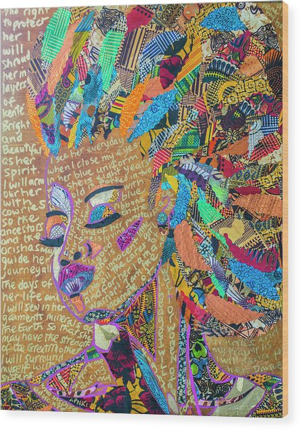 Warrior Woman Wood Print