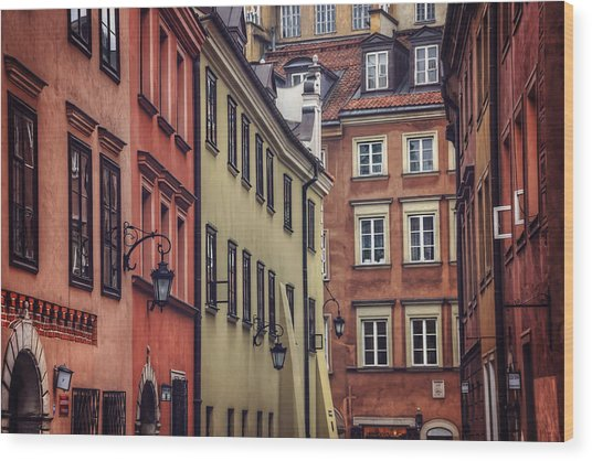 Warsaw Old Town Charm Wood Print