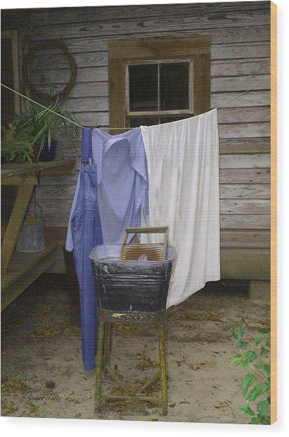 Wash Day Wood Print