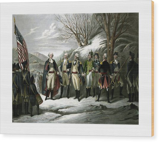 Washington And His Generals  Wood Print