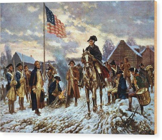 Washington At Valley Forge Wood Print