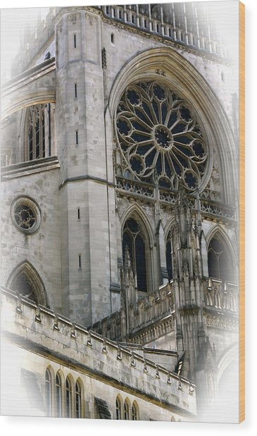 Washington Cathedral Wood Print by Charlie Parker