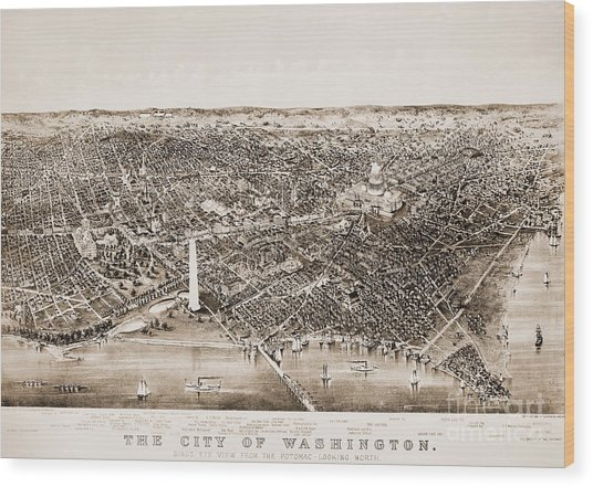 Washington D.c., 1892 Wood Print