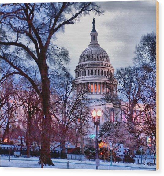 Washington D.c. One Wood Print