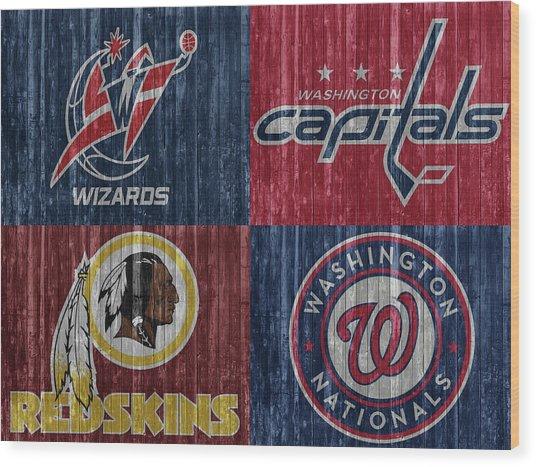Washington Dc Sports Teams Wood Print