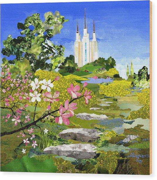 Washington Dc Temple Wood Print