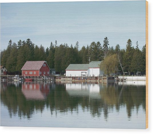 Washington Island Harbor 7 Wood Print