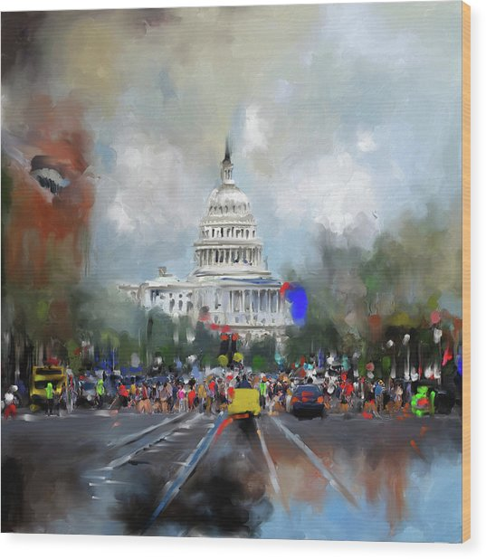 Washington Painting 478 I Wood Print