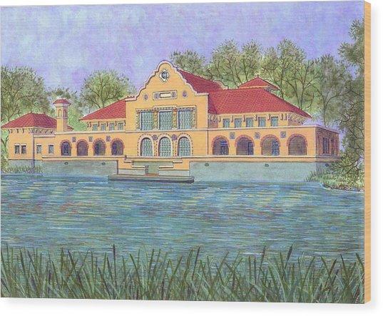 Washington Park Lakehouse Wood Print by David Hinchen