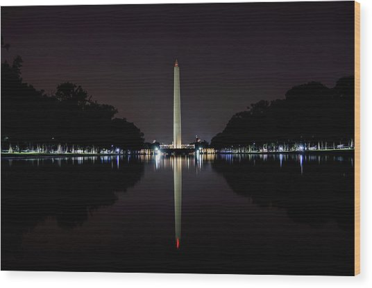 Washington Reflection Wood Print