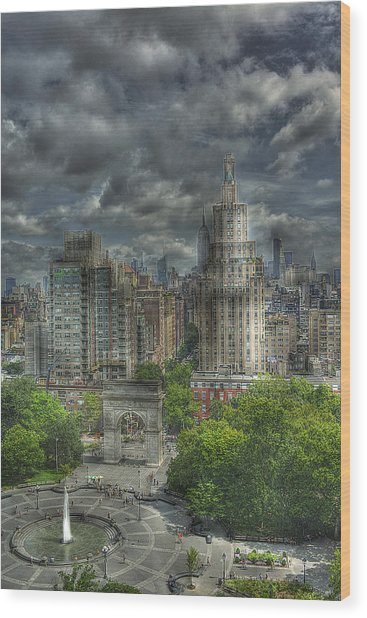 Washington Square Wood Print