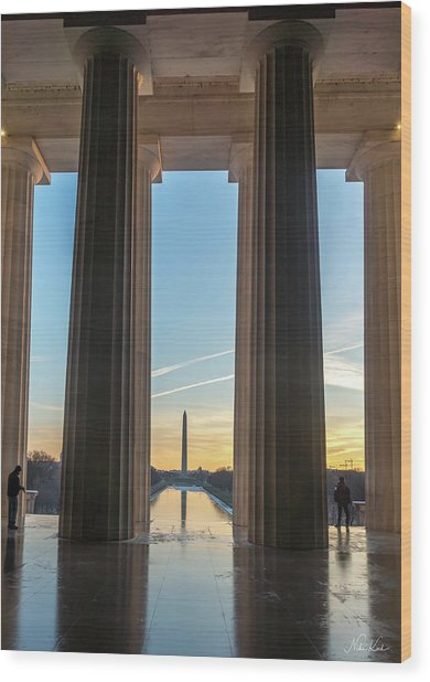 Washington Through Lincoln Wood Print