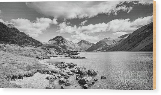 Wastwater And Wasdale Wood Print by Colin and Linda McKie