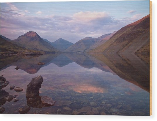 Wastwater In Cumbria Wood Print