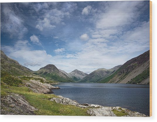 Wastwater Morning Wood Print