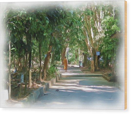 Wat Umong 1 Wood Print