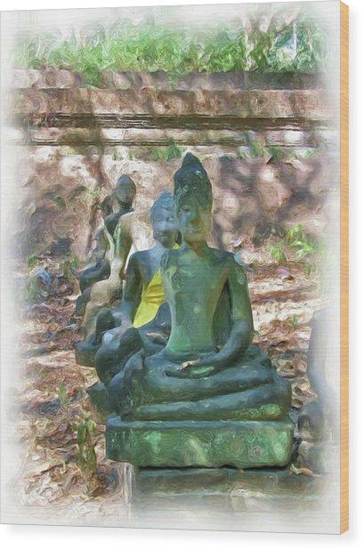 Wat Umong 3 Wood Print